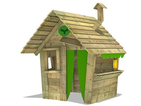 casita  de madera jardin