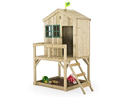casita para juegos de madera