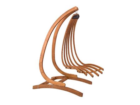 silla colgante madera para jardin