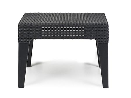 mesa exterior negra