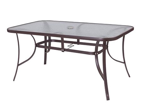 mesa acero marron