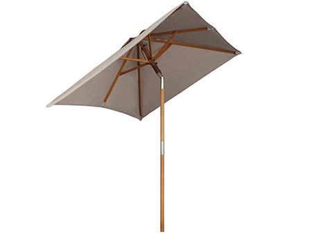 parasol de madera para jardin