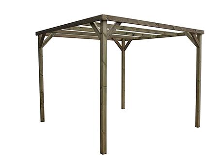 pergola de madera exterior