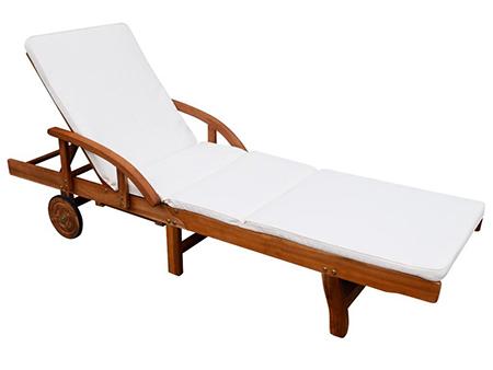 tumbona madera con cojin