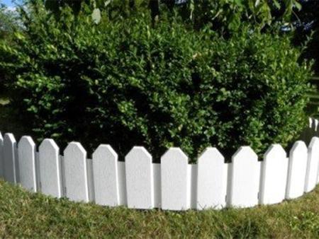 valla blanca para jardin