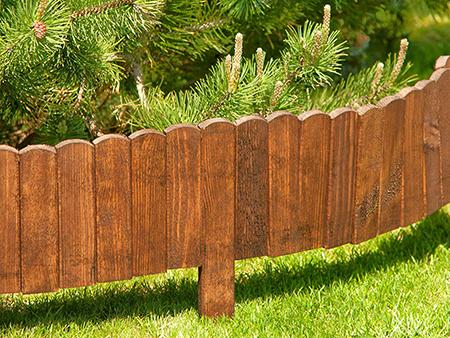 valla de madera para jardin