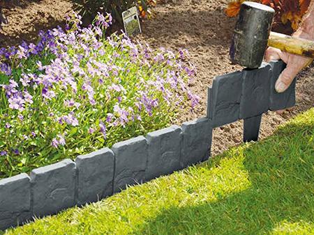 valla estilo piedra para jardin
