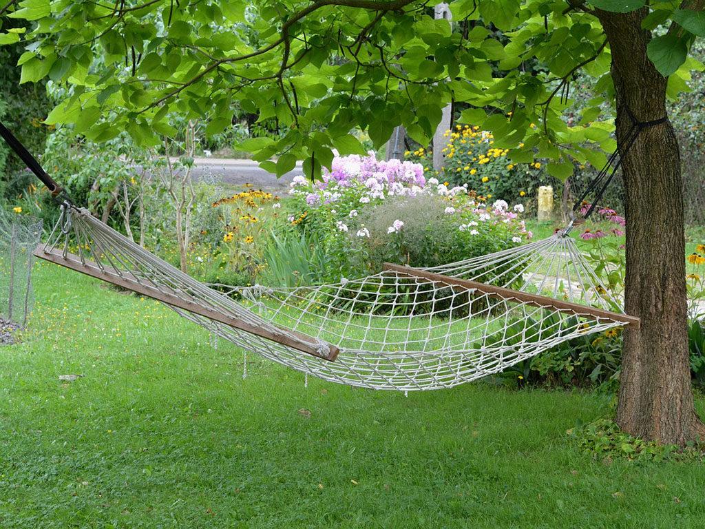hamacas para árboles en jardín o campo 6