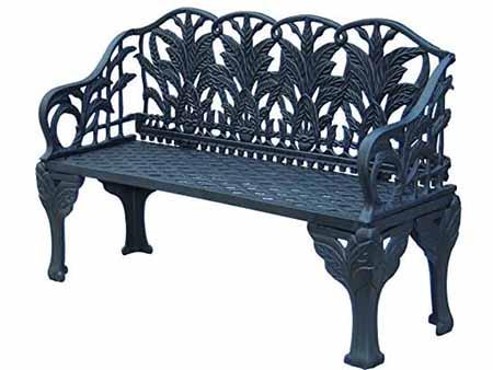 banco de hierro fundido para jardines